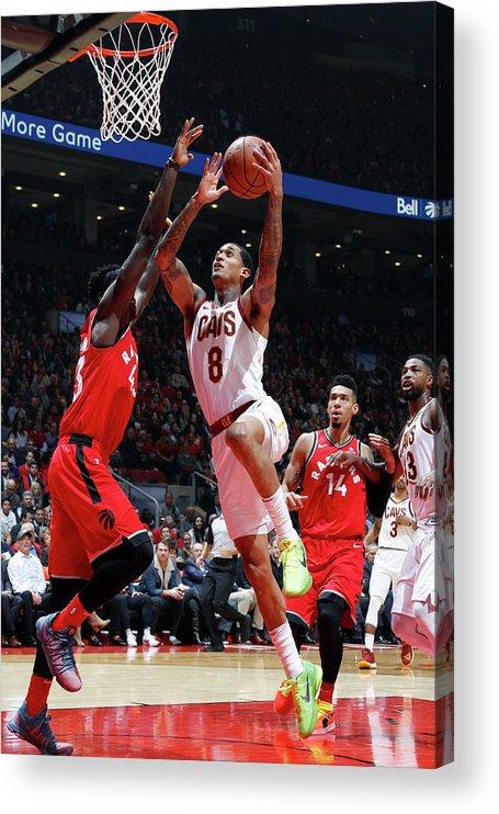 Nba Pro Basketball Acrylic Print featuring the photograph Jordan Clarkson by Mark Blinch