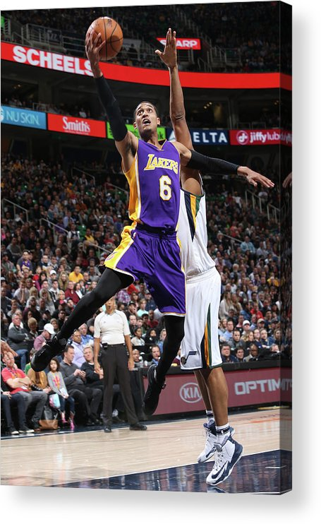 Nba Pro Basketball Acrylic Print featuring the photograph Jordan Clarkson by Melissa Majchrzak