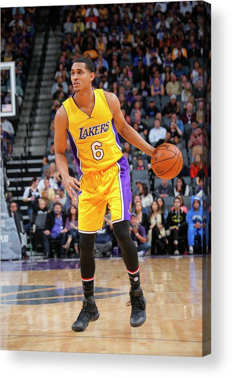 Nba Pro Basketball Acrylic Print featuring the photograph Jordan Clarkson by Rocky Widner