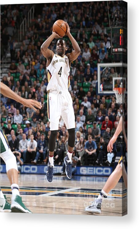 Nba Pro Basketball Acrylic Print featuring the photograph Jordan Crawford by Melissa Majchrzak