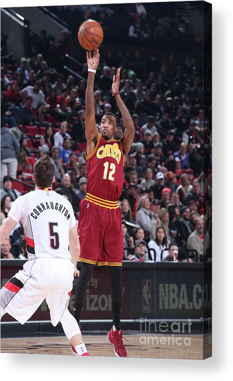 Nba Pro Basketball Acrylic Print featuring the photograph Jordan Mcrae by Sam Forencich