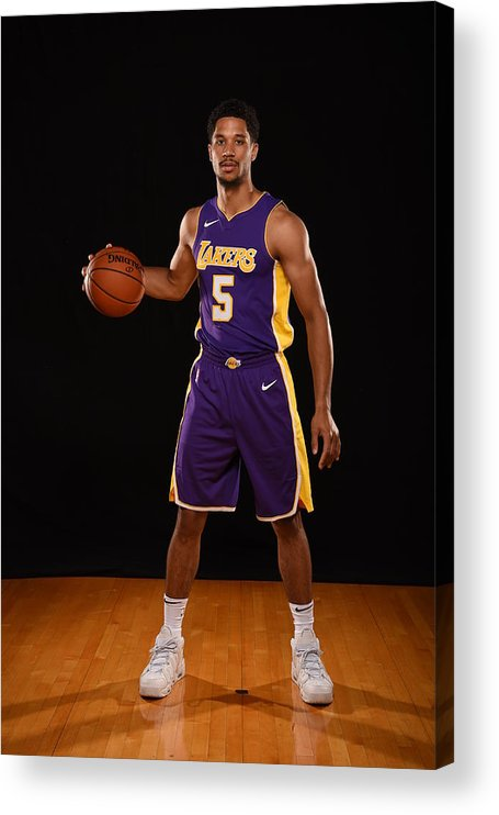 Nba Pro Basketball Acrylic Print featuring the photograph Josh Hart by Brian Babineau