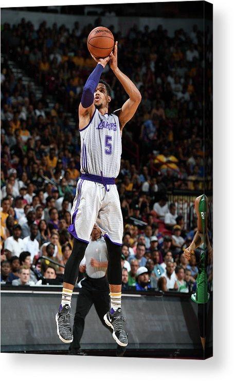 Nba Pro Basketball Acrylic Print featuring the photograph Josh Hart by Garrett Ellwood