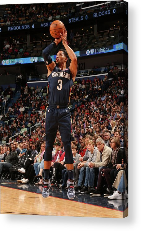 Smoothie King Center Acrylic Print featuring the photograph Josh Hart by Layne Murdoch Jr.