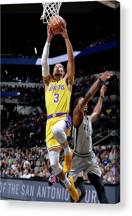 Nba Pro Basketball Acrylic Print featuring the photograph Josh Hart by Mark Sobhani
