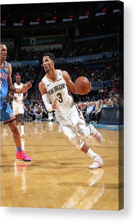 Nba Pro Basketball Acrylic Print featuring the photograph Josh Hart by Zach Beeker