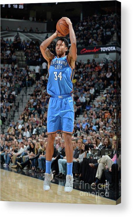 Nba Pro Basketball Acrylic Print featuring the photograph Josh Huestis by Mark Sobhani