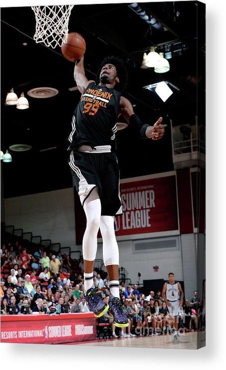 Nba Pro Basketball Acrylic Print featuring the photograph Josh Jackson by David Dow
