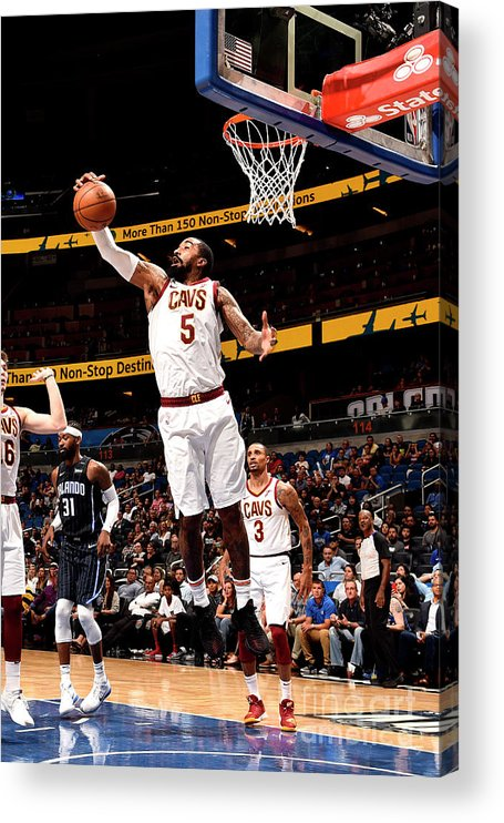 Nba Pro Basketball Acrylic Print featuring the photograph J.r. Smith by Gary Bassing