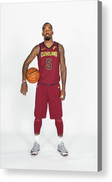 Media Day Acrylic Print featuring the photograph J.r. Smith by Michael J. Lebrecht Ii