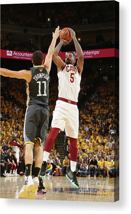 Playoffs Acrylic Print featuring the photograph J.r. Smith by Nathaniel S. Butler
