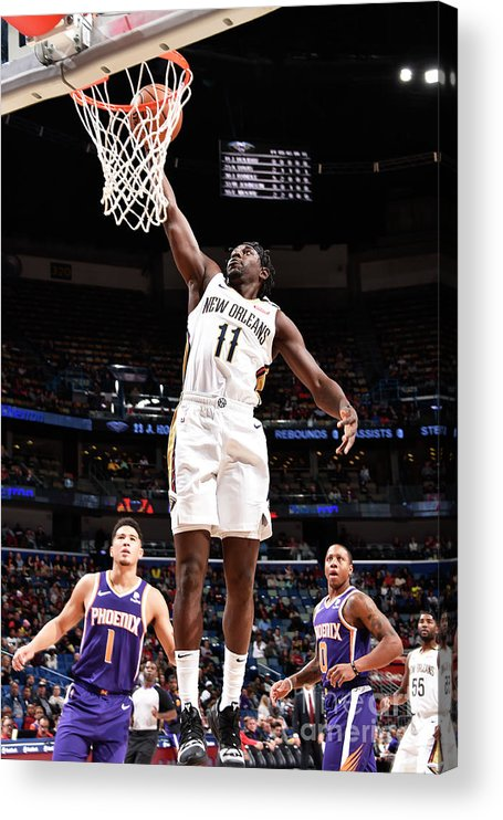 Smoothie King Center Acrylic Print featuring the photograph Jrue Holiday by Bill Baptist