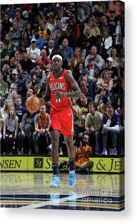 Nba Pro Basketball Acrylic Print featuring the photograph Jrue Holiday by Melissa Majchrzak