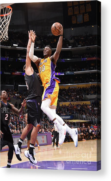 Nba Pro Basketball Acrylic Print featuring the photograph Julius Randle by Andrew D. Bernstein