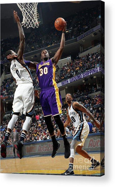 Nba Pro Basketball Acrylic Print featuring the photograph Julius Randle by Joe Murphy