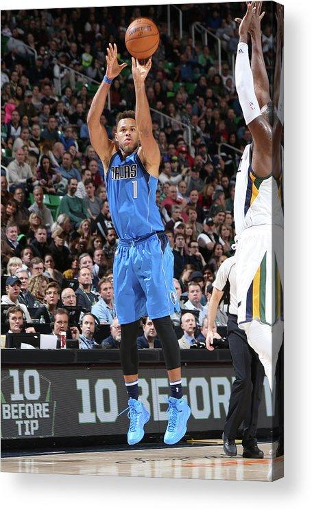 Nba Pro Basketball Acrylic Print featuring the photograph Justin Anderson by Melissa Majchrzak
