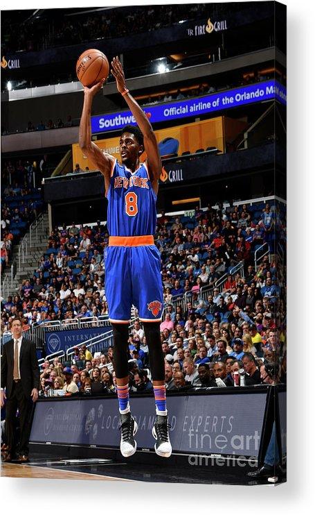 Nba Pro Basketball Acrylic Print featuring the photograph Justin Holiday by Fernando Medina