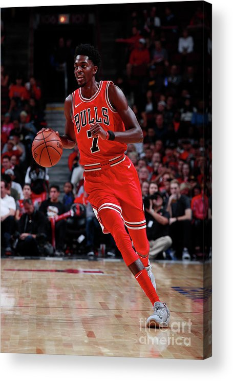 Nba Pro Basketball Acrylic Print featuring the photograph Justin Holiday by Jeff Haynes
