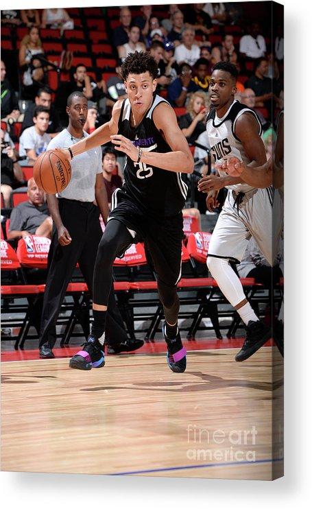 Nba Pro Basketball Acrylic Print featuring the photograph Justin Jackson by David Dow