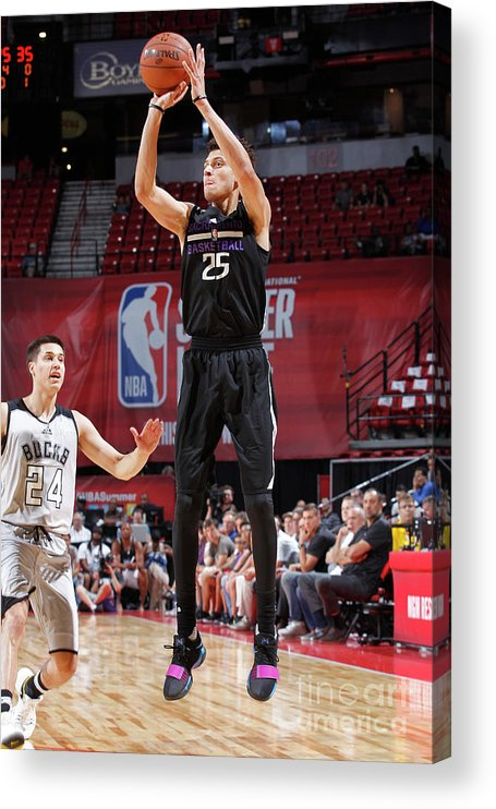 Nba Pro Basketball Acrylic Print featuring the photograph Justin Jackson by Jack Arent