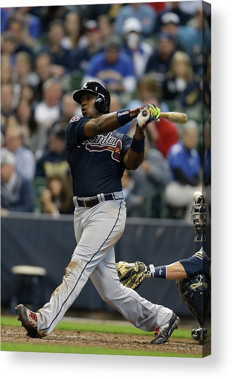 Home Base Acrylic Print featuring the photograph Justin Upton by Mike Mcginnis