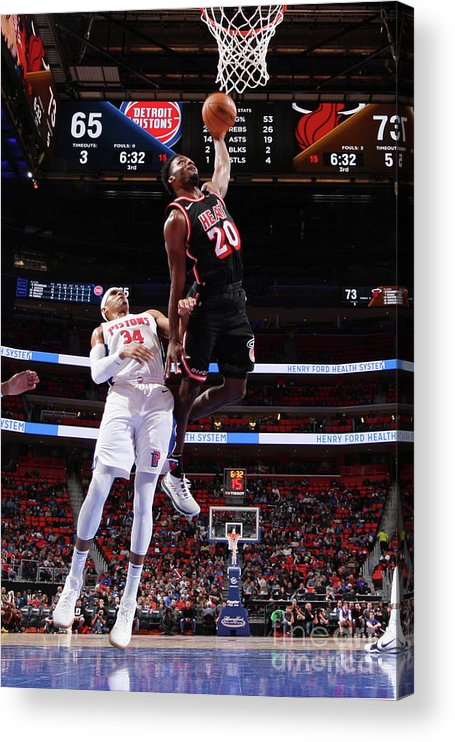 Justise Winslow Acrylic Print featuring the photograph Justise Winslow by Brian Sevald