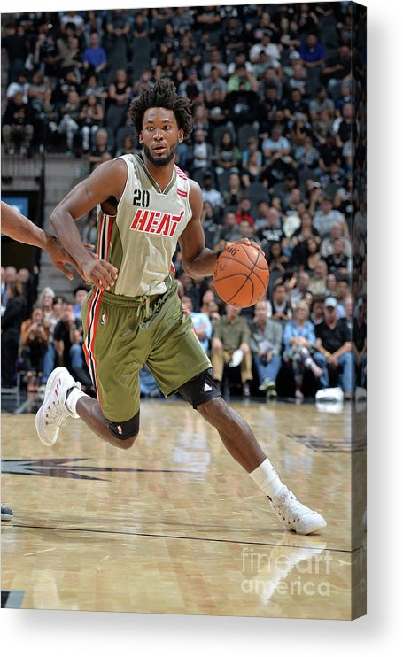 Justise Winslow Acrylic Print featuring the photograph Justise Winslow by Mark Sobhani