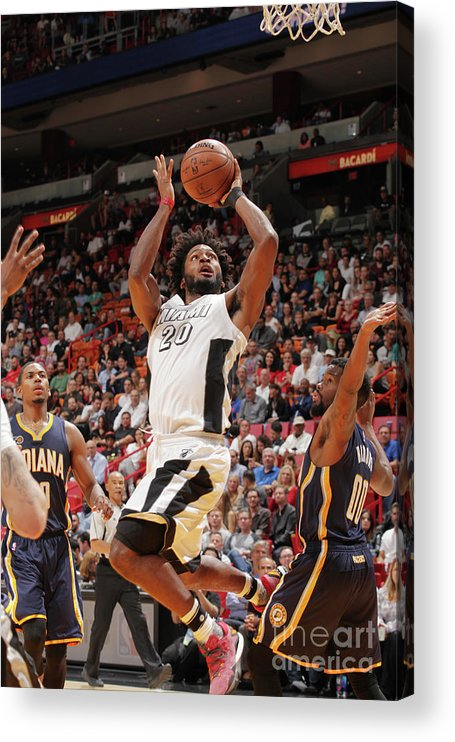 Justise Winslow Acrylic Print featuring the photograph Justise Winslow by Oscar Baldizon