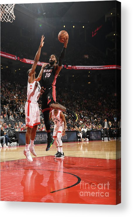 Justise Winslow Acrylic Print featuring the photograph Justise Winslow by Ron Turenne