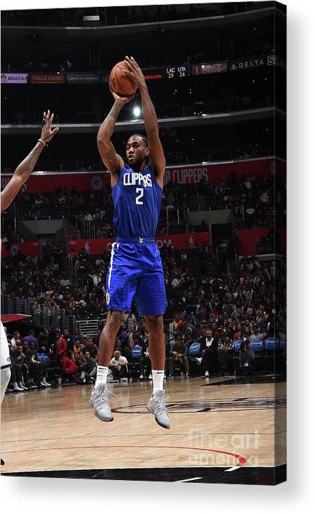 Nba Pro Basketball Acrylic Print featuring the photograph Kawhi Leonard by Adam Pantozzi