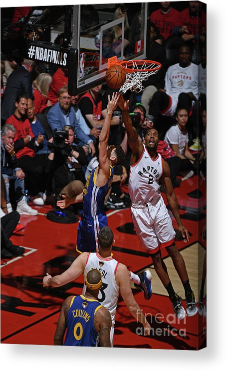 Playoffs Acrylic Print featuring the photograph Kawhi Leonard and Klay Thompson by Garrett Ellwood