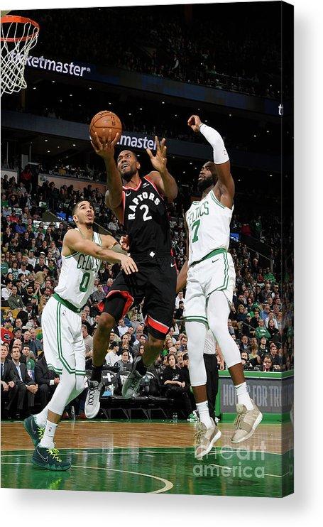Nba Pro Basketball Acrylic Print featuring the photograph Kawhi Leonard by Brian Babineau