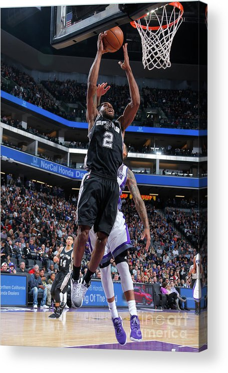 Nba Pro Basketball Acrylic Print featuring the photograph Kawhi Leonard by Rocky Widner