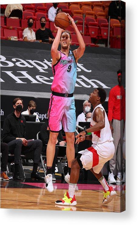 Nba Pro Basketball Acrylic Print featuring the photograph Kelly Olynyk by Issac Baldizon