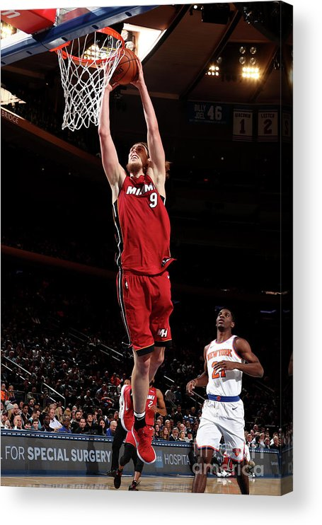 Nba Pro Basketball Acrylic Print featuring the photograph Kelly Olynyk by Nathaniel S. Butler