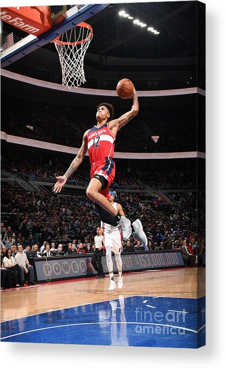 Nba Pro Basketball Acrylic Print featuring the photograph Kelly Oubre by Chris Schwegler
