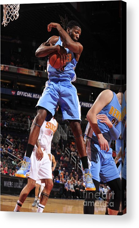 Nba Pro Basketball Acrylic Print featuring the photograph Kenneth Faried by Barry Gossage