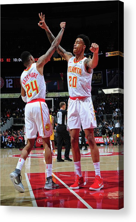 Atlanta Acrylic Print featuring the photograph Kent Bazemore and John Collins by Scott Cunningham