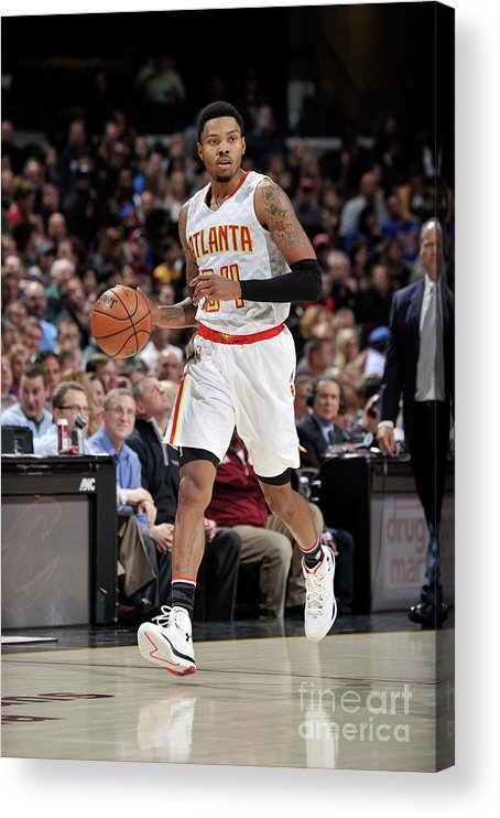 Nba Pro Basketball Acrylic Print featuring the photograph Kent Bazemore by David Liam Kyle