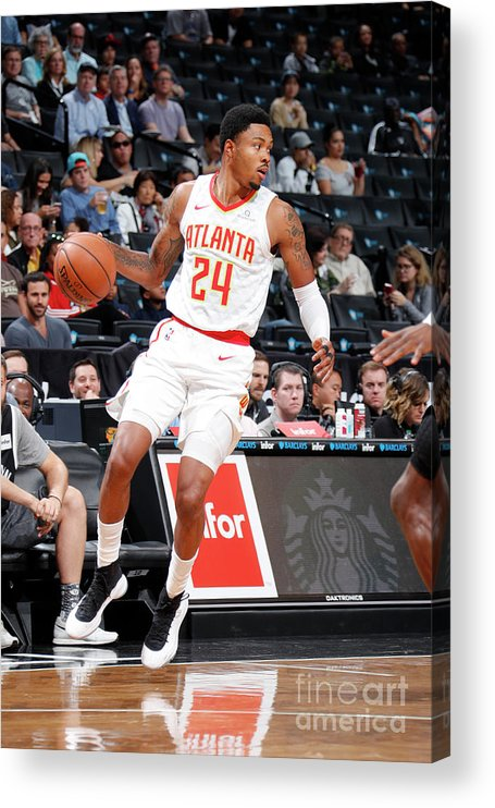 Nba Pro Basketball Acrylic Print featuring the photograph Kent Bazemore by Nathaniel S. Butler