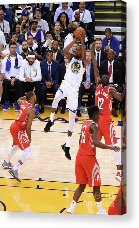 Nba Pro Basketball Acrylic Print featuring the photograph Kevin Durant by Adam Pantozzi