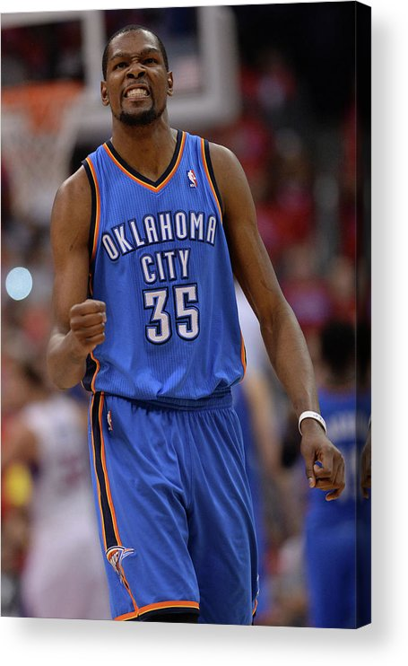 Playoffs Acrylic Print featuring the photograph Kevin Durant by Noah Graham