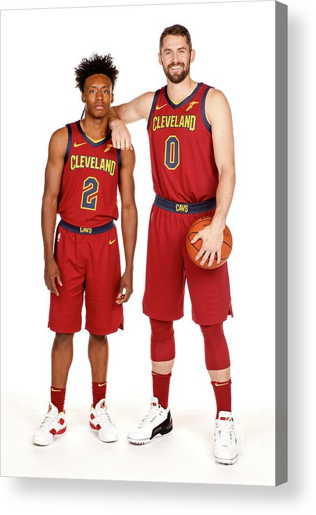 Media Day Acrylic Print featuring the photograph Kevin Love by Chris Marion