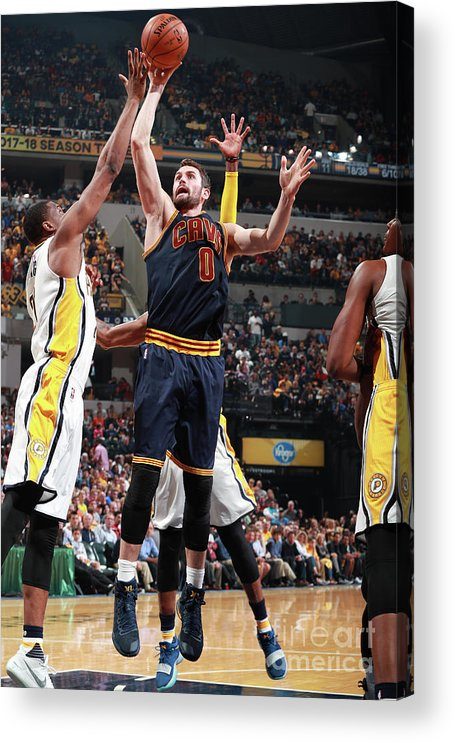 Playoffs Acrylic Print featuring the photograph Kevin Love by Jeff Haynes