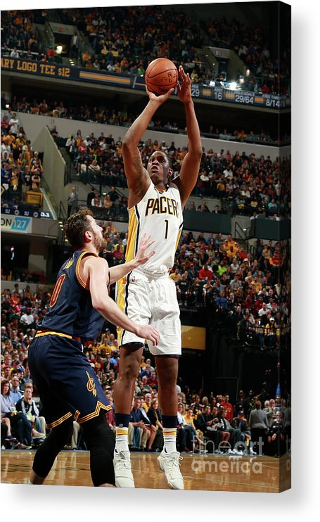 Playoffs Acrylic Print featuring the photograph Kevin Seraphin by Jeff Haynes
