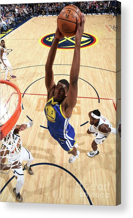 Nba Pro Basketball Acrylic Print featuring the photograph Kevon Looney by Garrett Ellwood