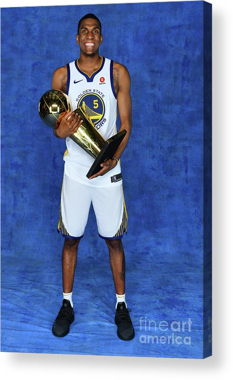 Playoffs Acrylic Print featuring the photograph Kevon Looney by Jesse D. Garrabrant