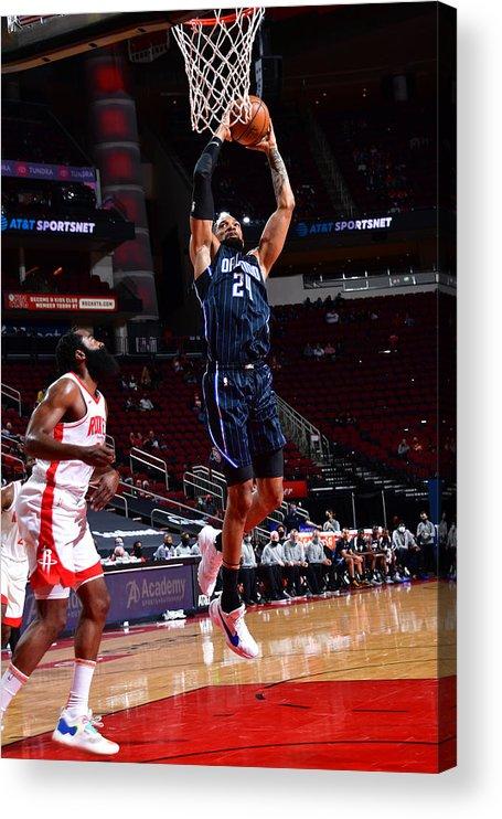 Nba Pro Basketball Acrylic Print featuring the photograph Khem Birch by Cato Cataldo