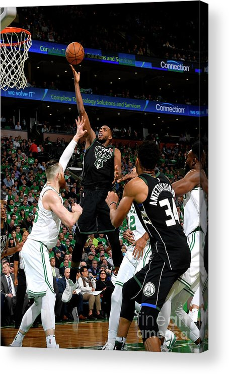 Playoffs Acrylic Print featuring the photograph Khris Middleton by Brian Babineau