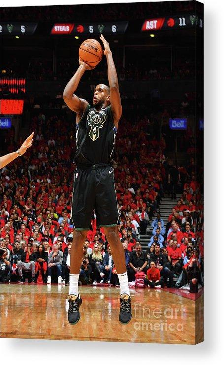 Nba Pro Basketball Acrylic Print featuring the photograph Khris Middleton by Jesse D. Garrabrant